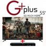 تلویزیون 55 اینچ جی پلاس با دستگاه DVD