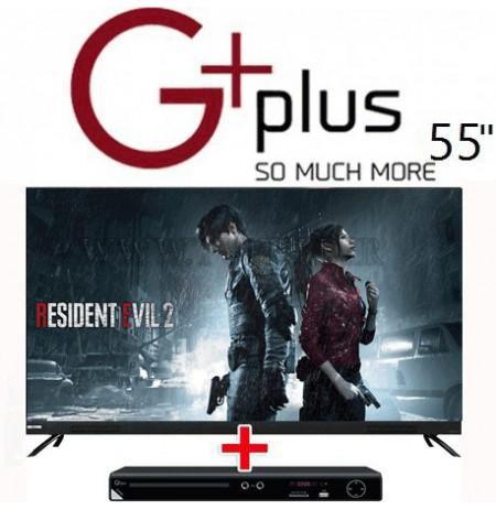 تلویزیون 55 اینچ جی پلاس 922s با دستگاه DVD