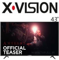 تلویزیون ایکس ویژن led سایز 43 اینچ مدل 580