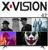 تلویزیون ایکس ویژن 43 اینچ مدل 43XK570