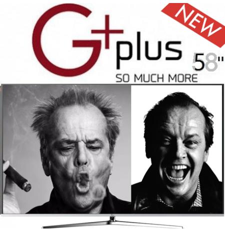 تلویزیون جی پلاس 58 اینچ فورکی اسمارت مدل 721