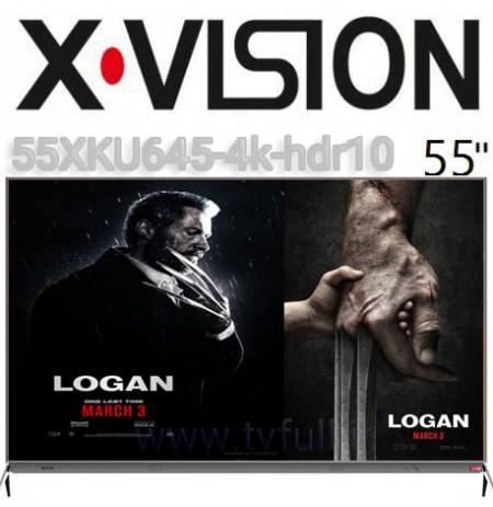 تلویزیون ایکس ویژن سایز 55 اینچ مدل 645