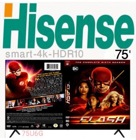 تلویزیون هایسنس 4k سایز 75 اینچ مدل 75U6G