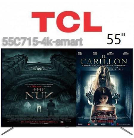 تلویزیون tcl سایز 55 اینچ مدل 55C715 هوشمند